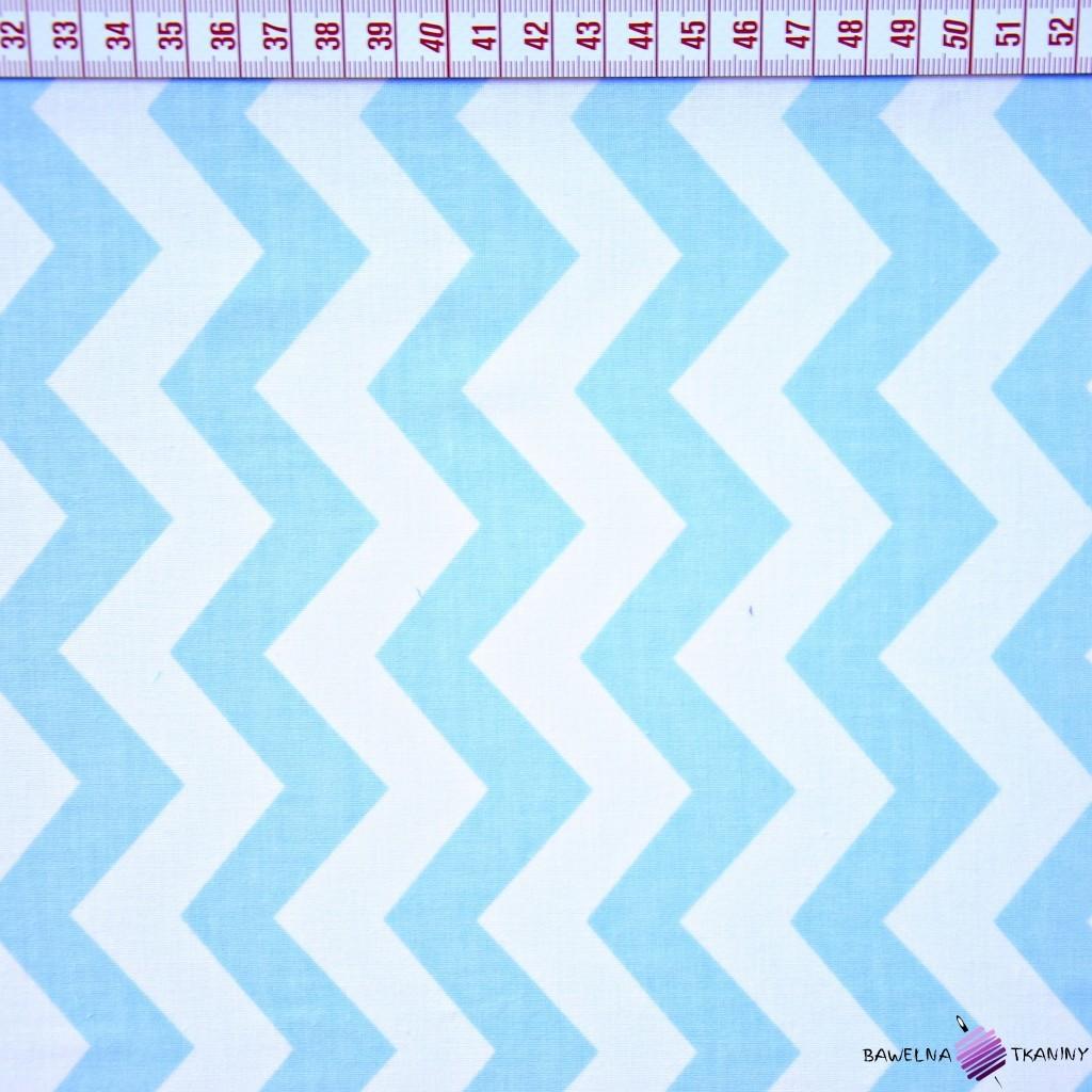 Bawełna zygzak niebieski
