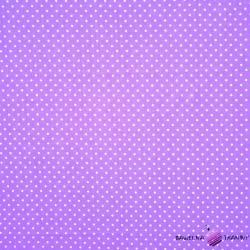 Bawełna białe Kropki fioletowe tło