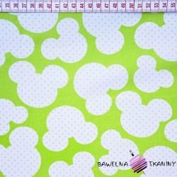 Bawełna Miki na zielonym tle