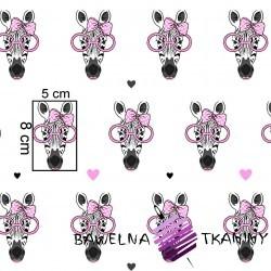 Bawełna żyrafy w różowych okularach