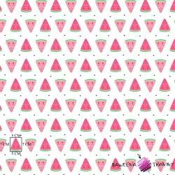 Bawełna różowe arbuzy na białym tle