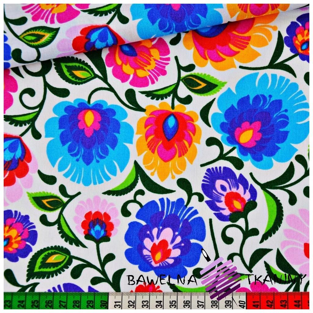 Cotton folk pattern on white background
