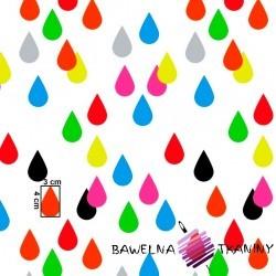 Bawełna kropelki kolorowe na białym tle