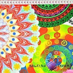 Cotton colorful Flower kaleidoscope on white background