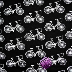 Knitwear white bicycles on black background