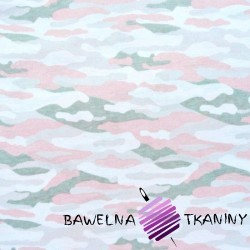 Knitwear white pink & gray camouflage