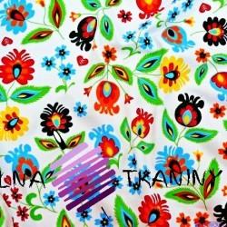 Knitwear folk pattern on white background