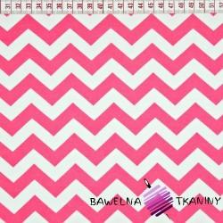 Knitwear white & pink zigzags