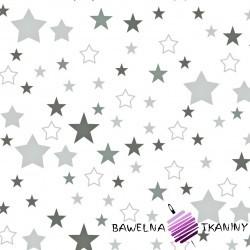 Bawełna gwiazdozbiór niebiesko granatowy na białym tle