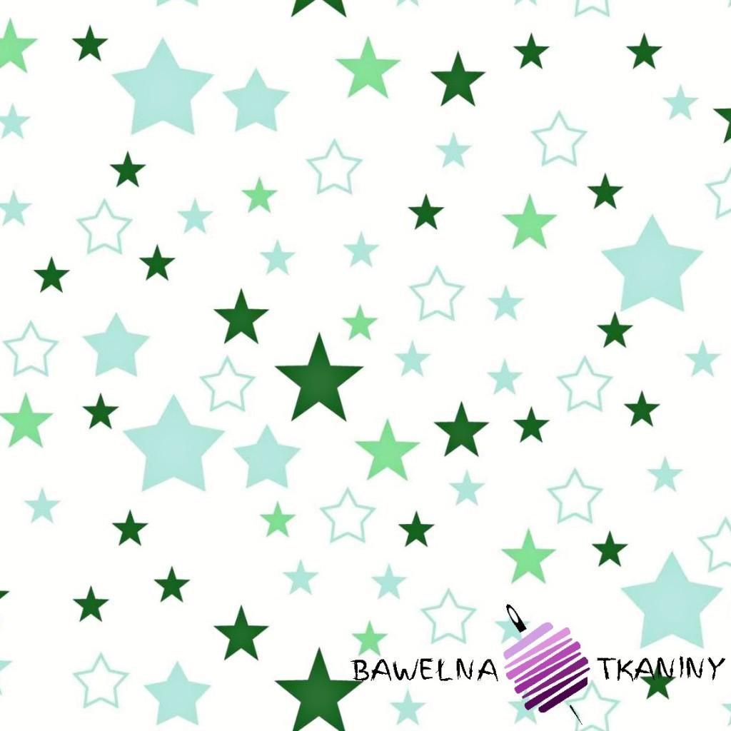 Bawełna gwiazdozbiór zielony na białym tle