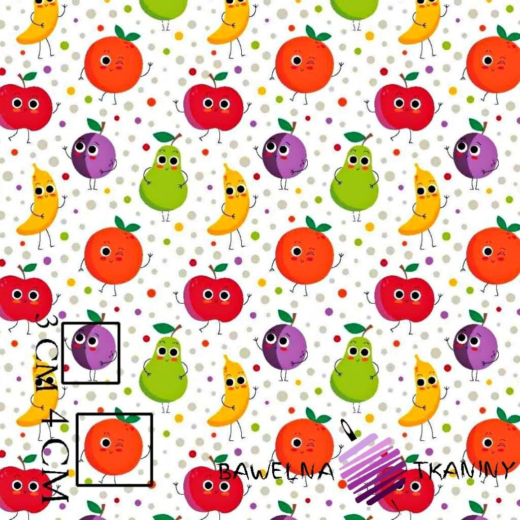 Bawełna owoce z kropeczkami na białym tle