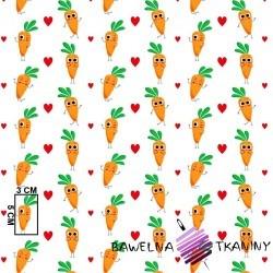 Bawełna marchewki pomarańczowe na białym tle