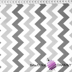 Cotton gray & dark gray zigzag