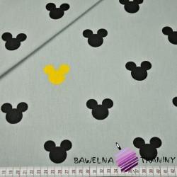 Bawełna Miki na szarym tle