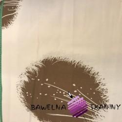 Curtain Fabric Brown Dandelions