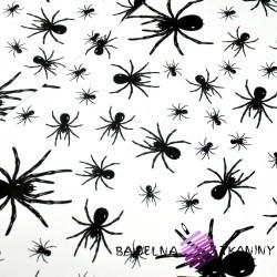 Bawełna pająki czarne na białym tle