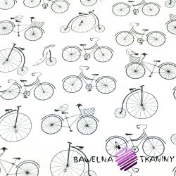Cotton black bicycle on white background