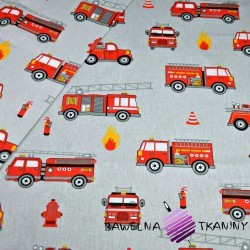 Cotton fire brigade on gray background