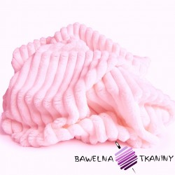 Minky Premium stripes light pink