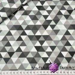Bawełna trójkąty małe kolorowe brązowe na białym tle