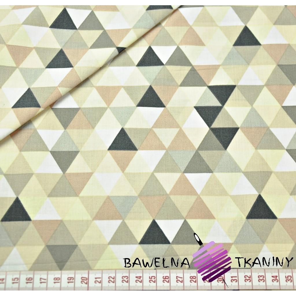 Bawełna trójkąty małe kolorowe beżowe na białym tle