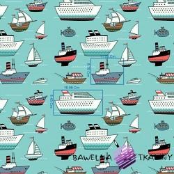 Imagén: Bawe³na statki na morskim tle