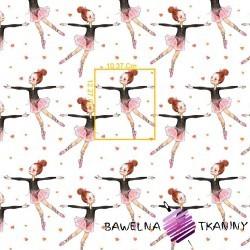 Cotton pink & brown ballerina on white background
