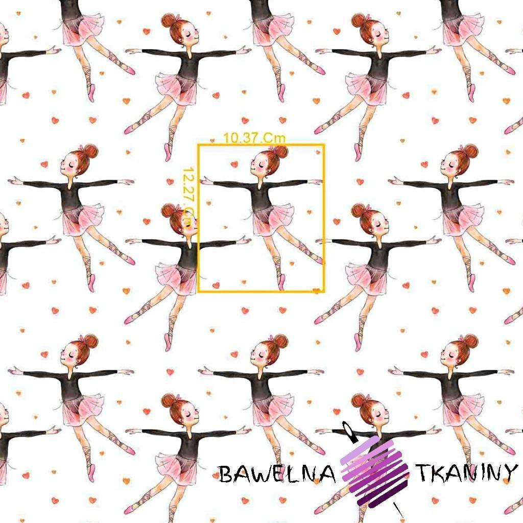 Bawełna baletnice różowo brązowe na białym tle
