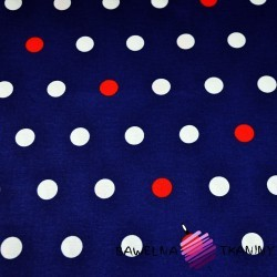 Cotton white & red spots on white background