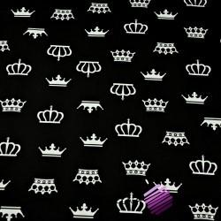 Bawełna korony białe na czarnym tle