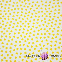 serduszka MINI żółte na białym tle
