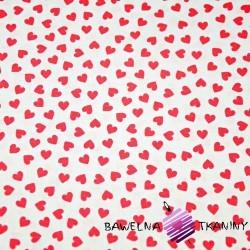 serduszka MINI czerwone na białym tle