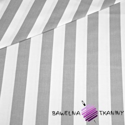 Cotton white & gray stripes