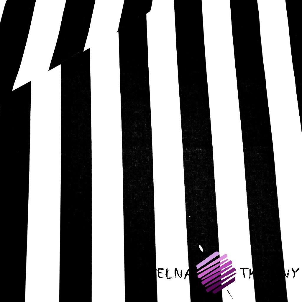 Cotton white & black stripes