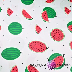 Cotton green watermelons on white background