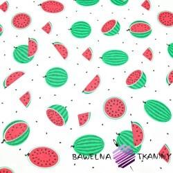 Bawełna arbuzy małe zielone na białym tle