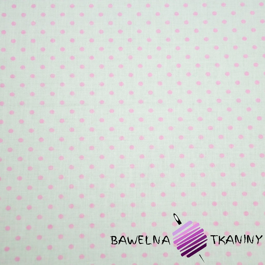 Cotton pink dots on white background