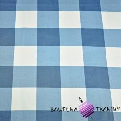 Bawełna krata duża niebieska