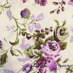 Bawełna róże cygańskie fioletowe