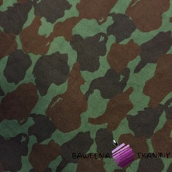 Fleece brown & green camouflage