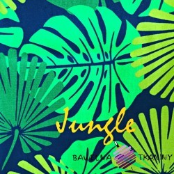 sun lounger fabric green leaves
