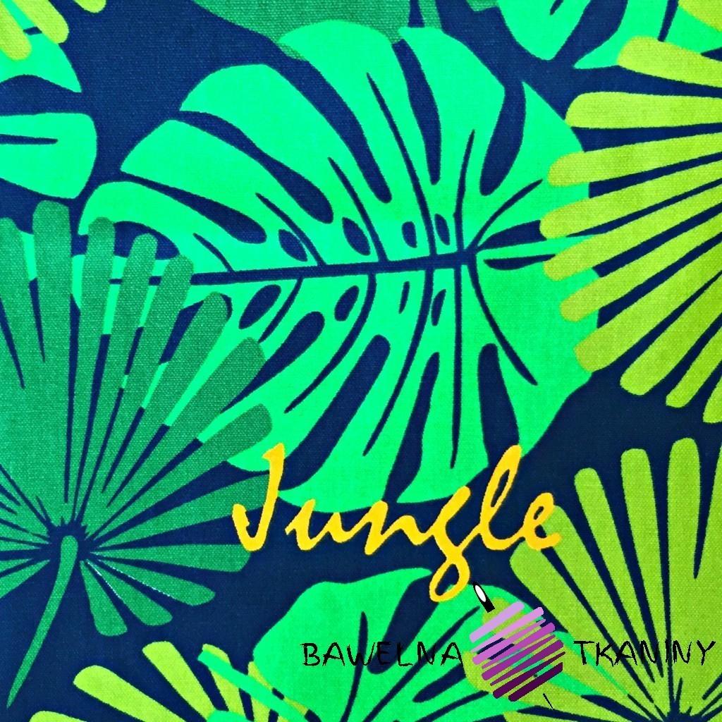 Tkanina leżakowa liście zielone