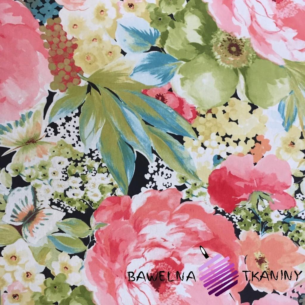 Bawełna kwiaty 7 CANVAS