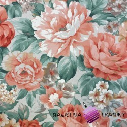 Bawełna kwiaty 17 CANVAS