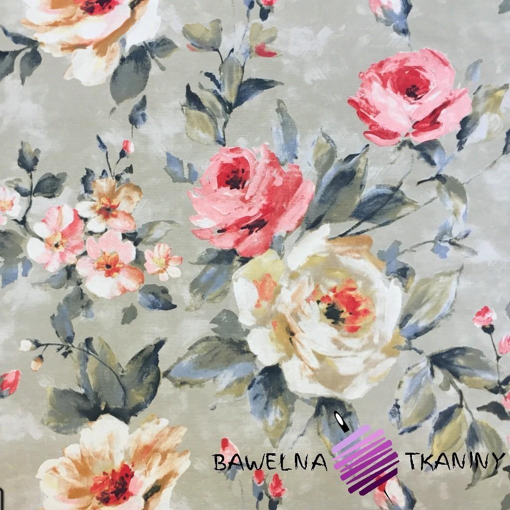 Bawełna kwiaty 22 CANVAS