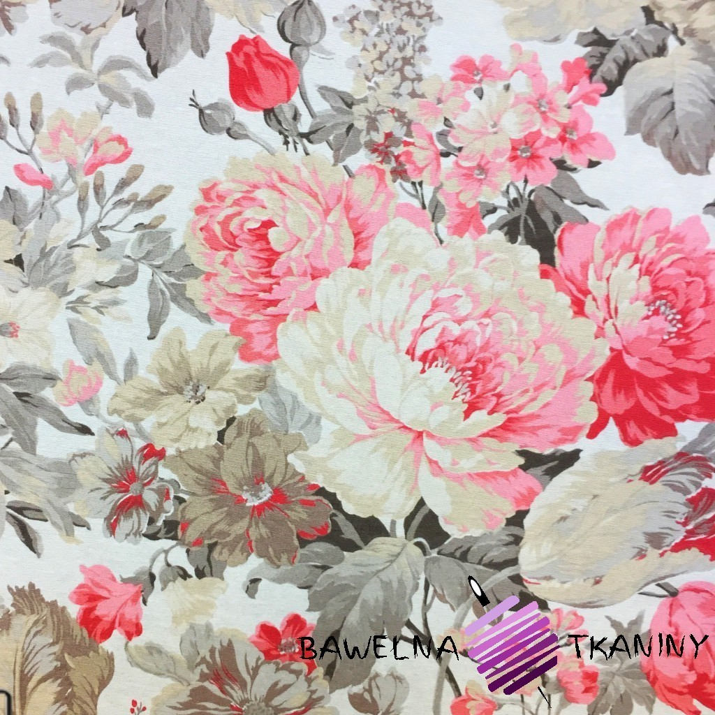 Bawełna kwiaty 23 CANVAS