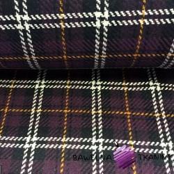 Wool purple & white checkered pattern