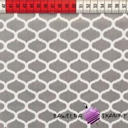 Bawełna wzór maroko szary