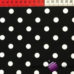 Cotton white spots on black background
