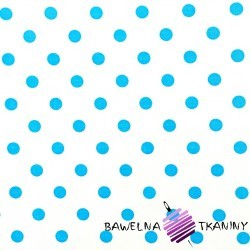 Cotton teal spots on white background